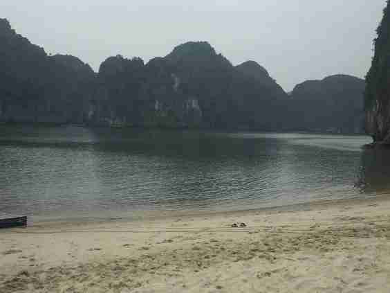 One of Halong bay beaches