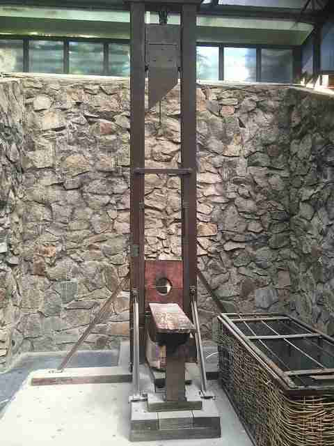 Guillotine used in the Tiger Cages