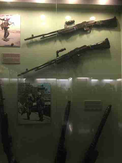 Some of the weapons used during the Vietnam war