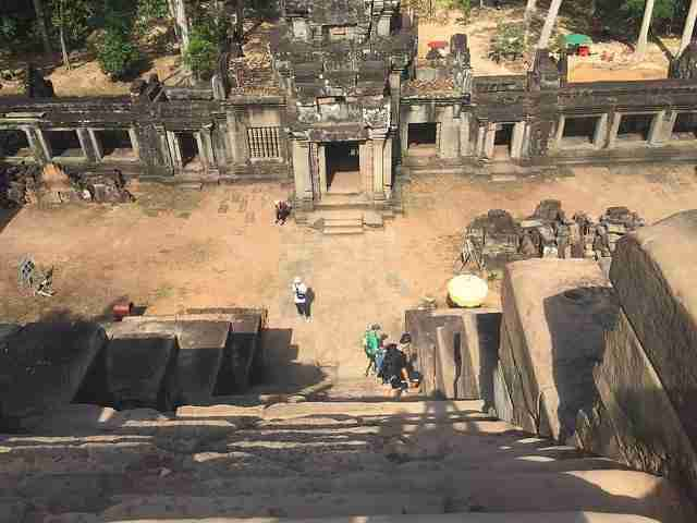 Temple Steps going down