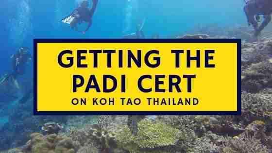Getting the PADI Cert on Koh Tao Thailand