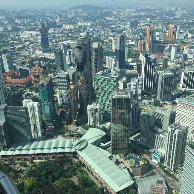 Observation Deck View from Petronas Twin Towers Deck View