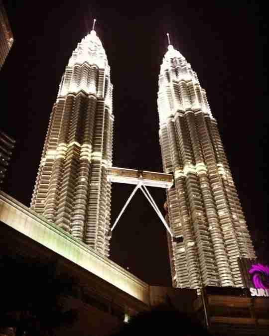 Petronas Twin Tower at Nighttime