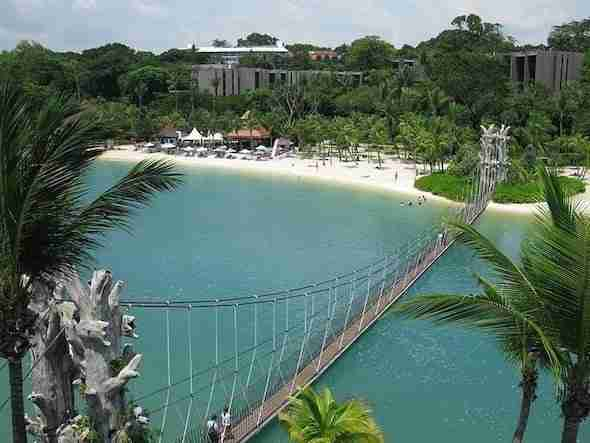 Siloso Beach on Sentosa Island Singapore
