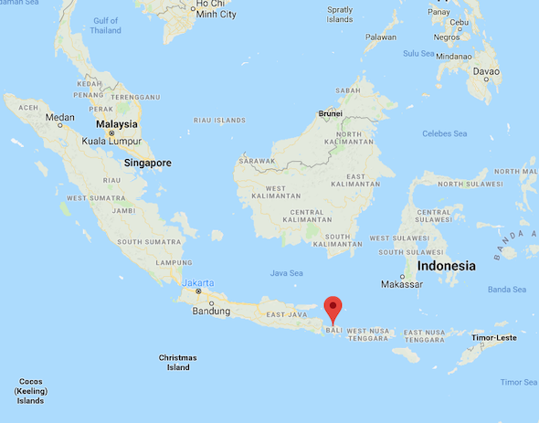 Where is Bali Indonesia on the map