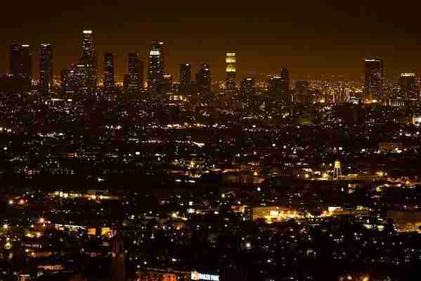 Downtown LA at Night Time