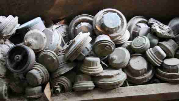 Pile of Land Mine at the Museum
