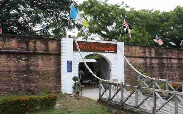 Outside of Fort Cornwallis