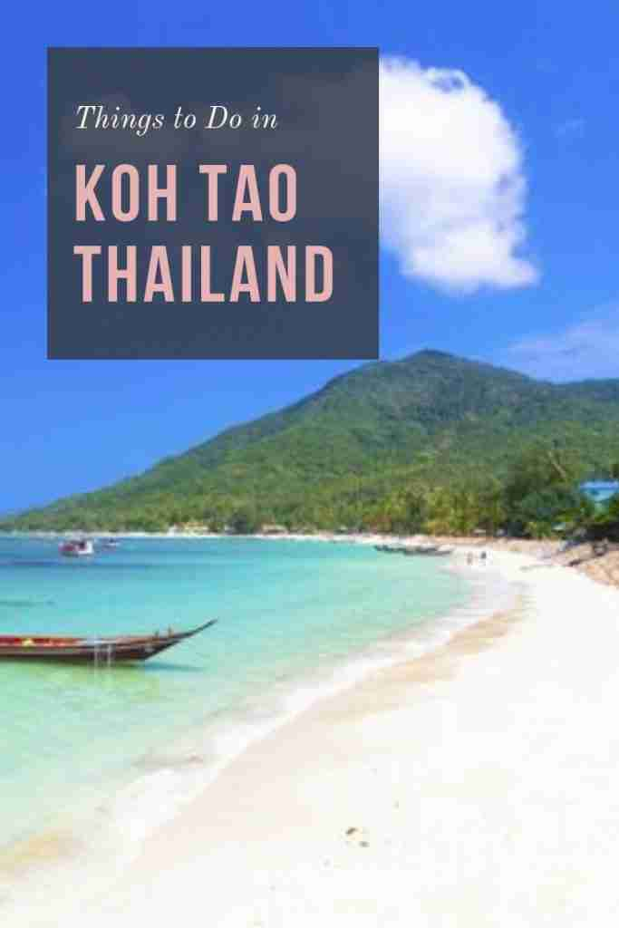 Amazing Things to Do in Koh Tao Thailand
