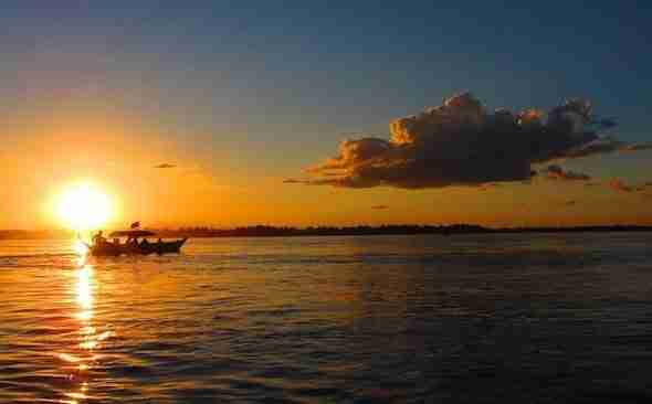 Mekong Sunsets in Kratie Cambodia