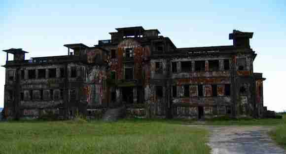 Ruins of a casino in Phnom Bokor National Park