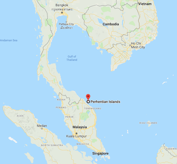 Perhentian Islands Malaysia Location on the Map