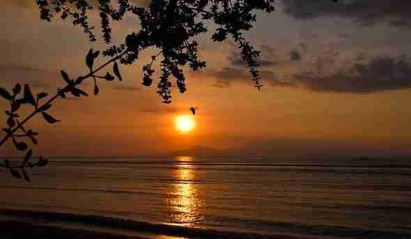 Sunset on Gili Islands