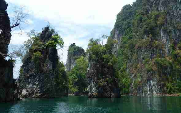 Limestone rocks in the Khao Sok National Park