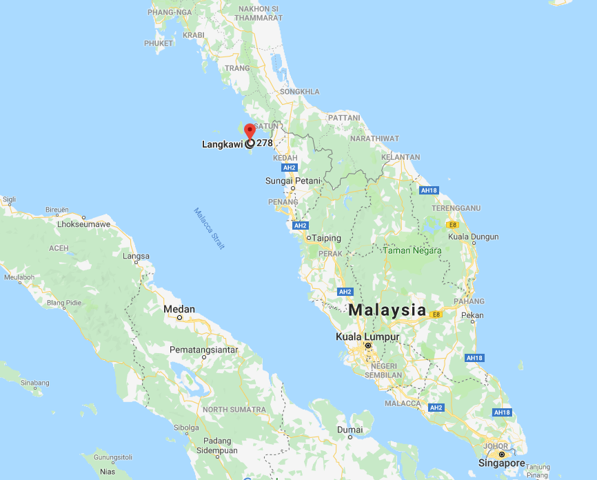 Langkawi Malaysia on the Map