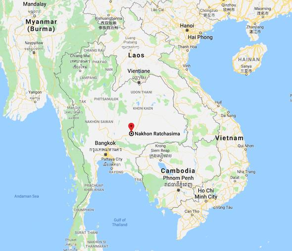 Nakhon Ratchasima on The Map