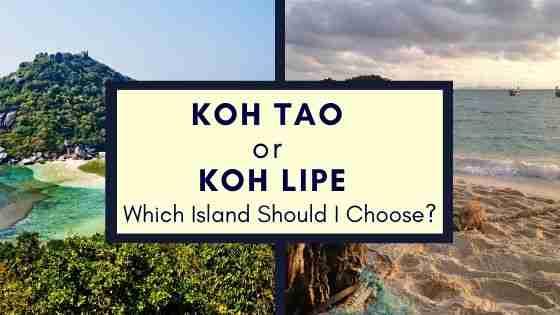 Koh Tao Or Koh Lipe Thailand