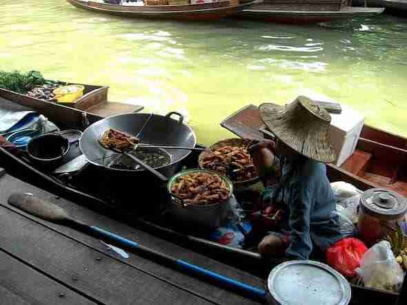Food at the floating market