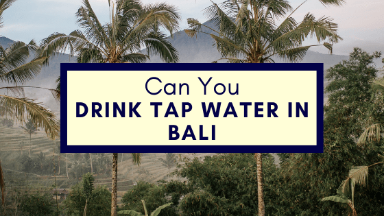Can you drink tap water in bali
